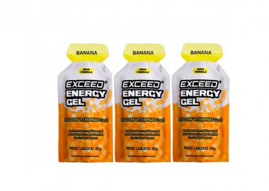 Gel Exceed Energy Banana 3 Unidades