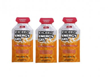 Gel Exceed Energy Triberry 3 Unidades