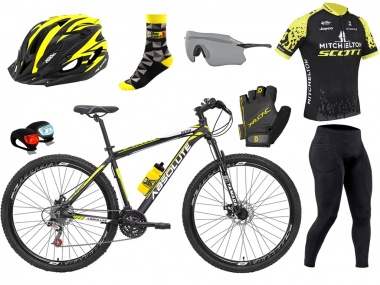 Bicicleta Absolute Nero XC 29 24 vel + Kit Ciclismo