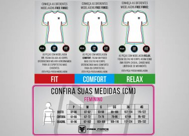Camisa Free Force Stage